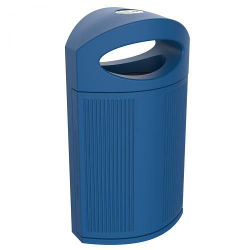 Ibiza Polypropylene Blue Bin for street P-23I-AZU