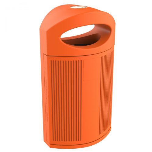 Ibiza Polypropylene Orange Bin for street P-23I-NAR