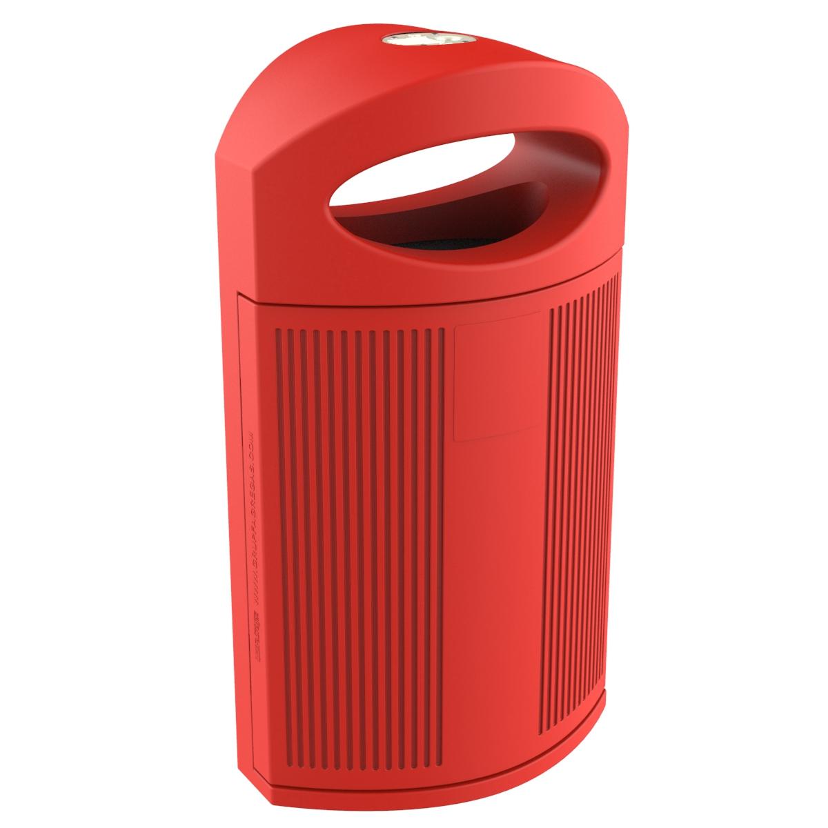 Paperera Polietilè Vermell Eibissa per al carrer P-23I-ROJ