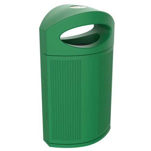 Ibiza Polypropylene Green Bin for street P-23I-VER