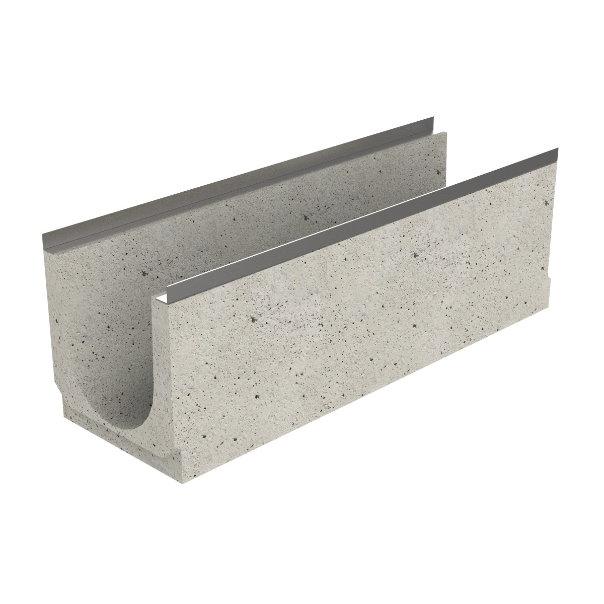 Premanufactured channel of concrete