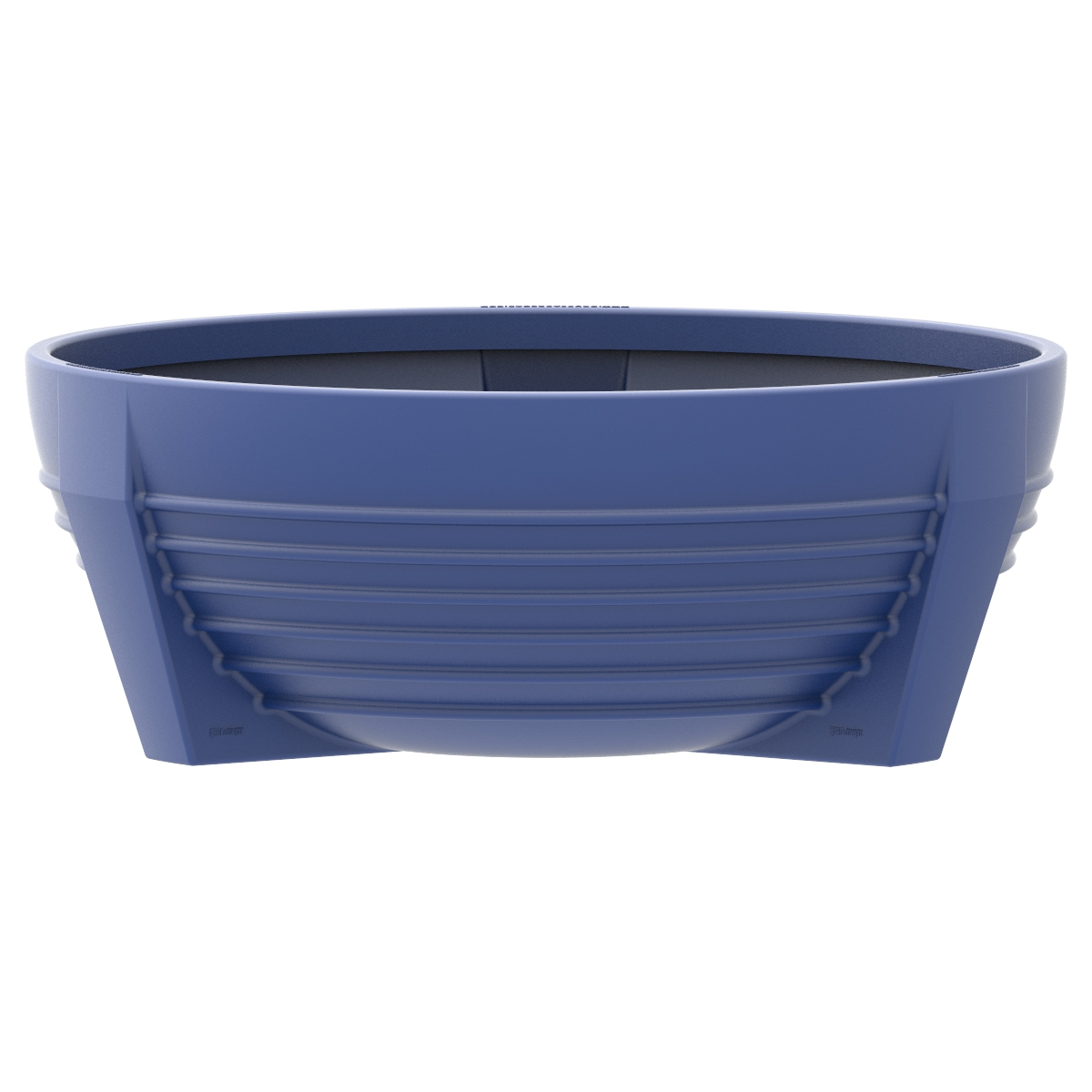 Circular blue flower box of Polypropylene futura P-300