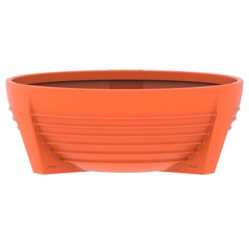 Circular Orange RAL 2004 flower box of polyethylene. futura P-300-NAR