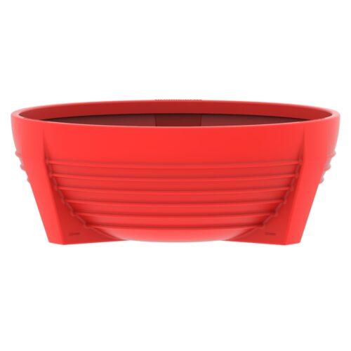 Red circular flower box of Polypropylene futura P-300