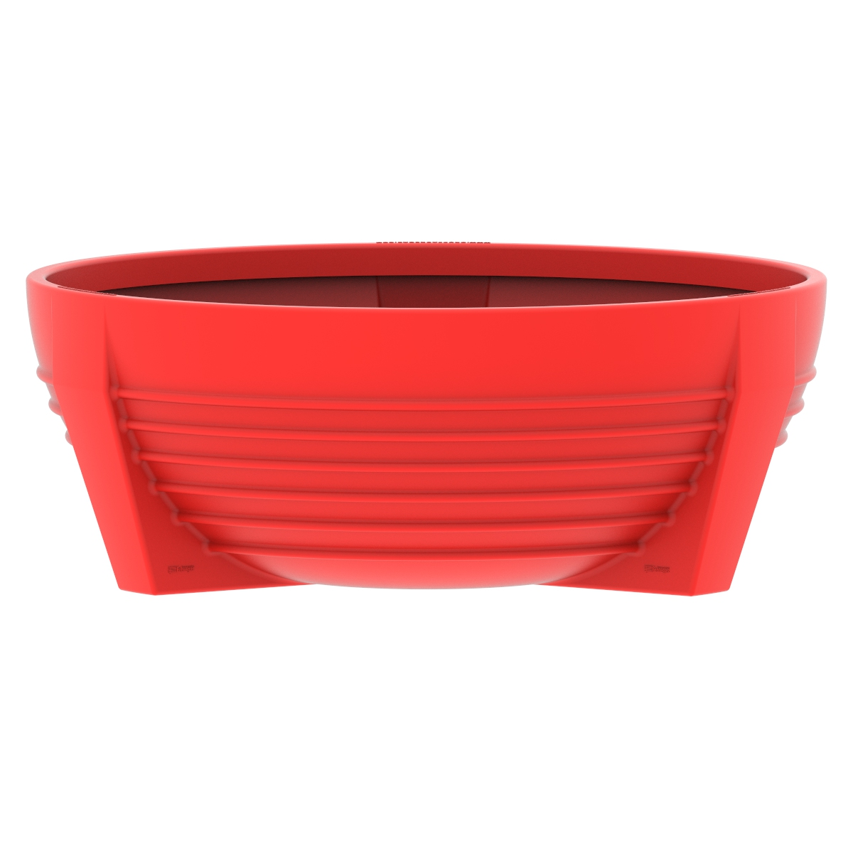 Red circular flower box of Polypropylene futura P-300