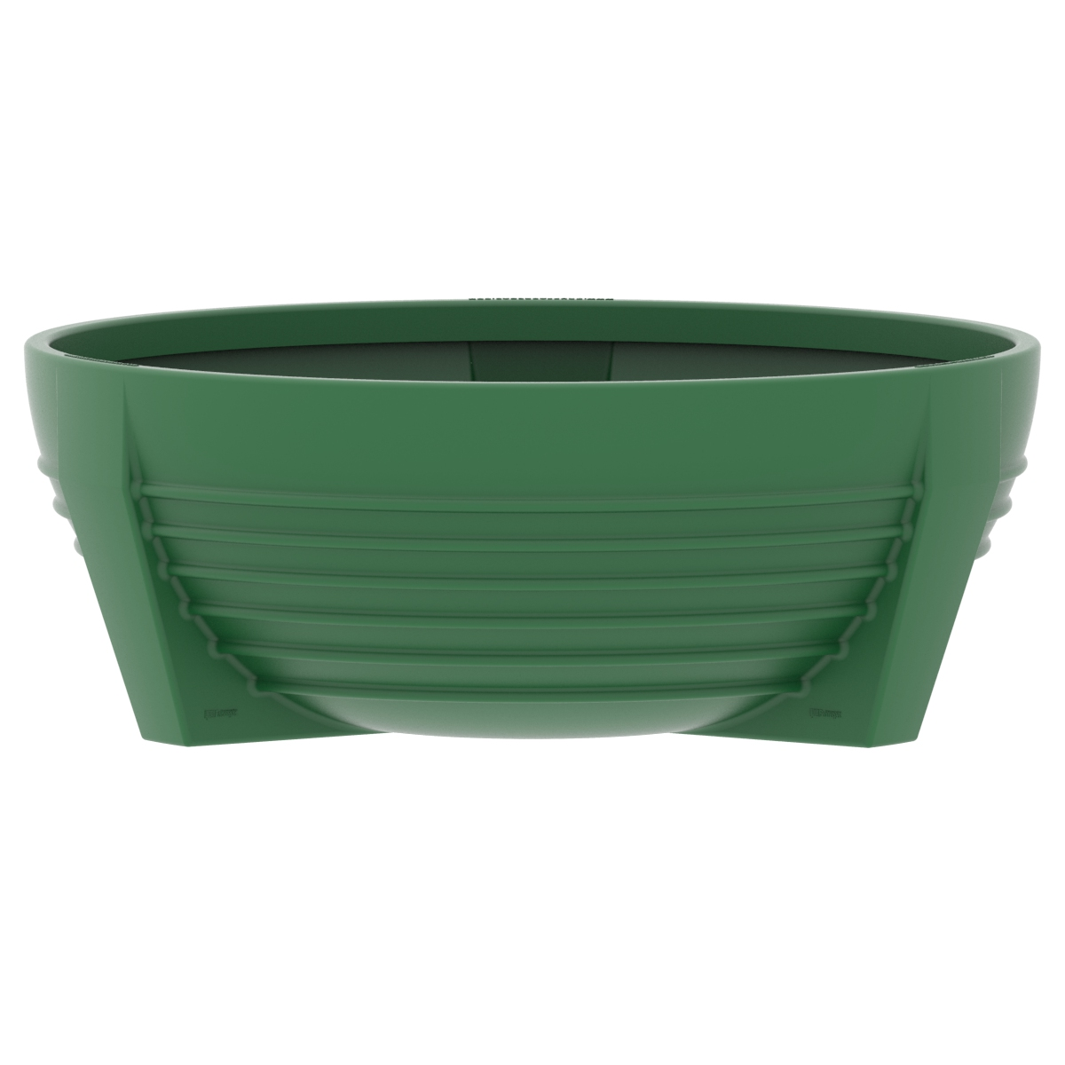 Green circular flower box of Polypropylene futura P-300
