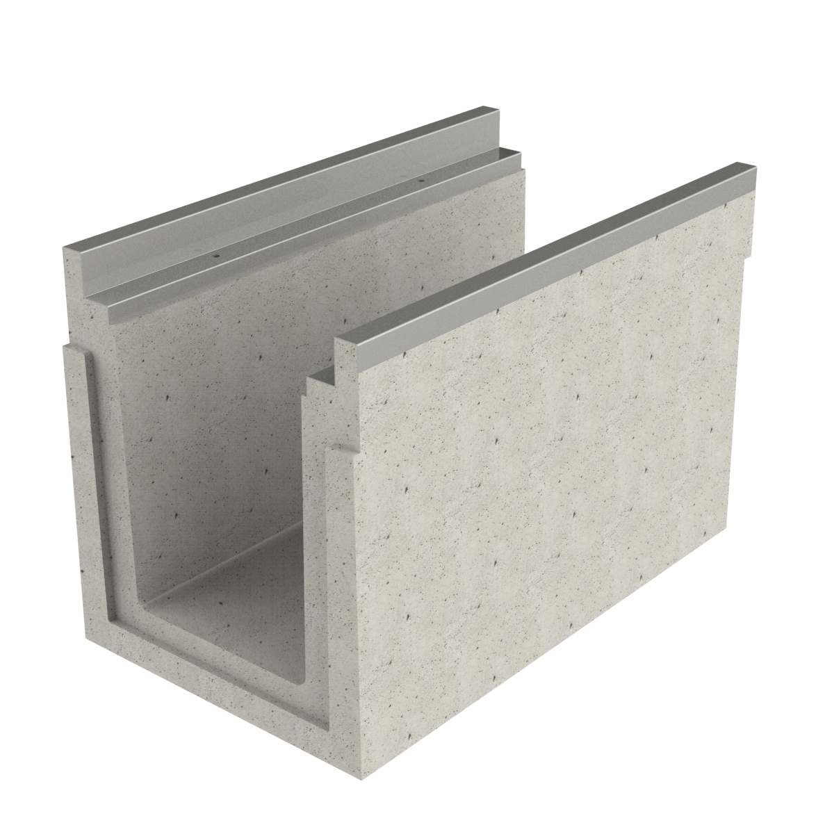 Channel of concrete premanufactured with frame 100x50x66