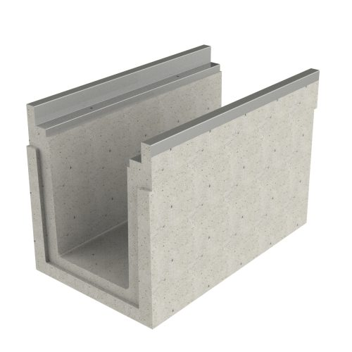 Channel of concrete premanufactured with frame 1000x580x665 mm P-500