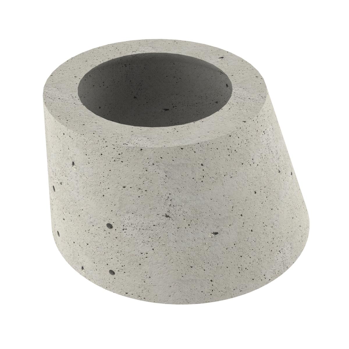 Cône asymétrique en béton pour puits P-8 60x100x65