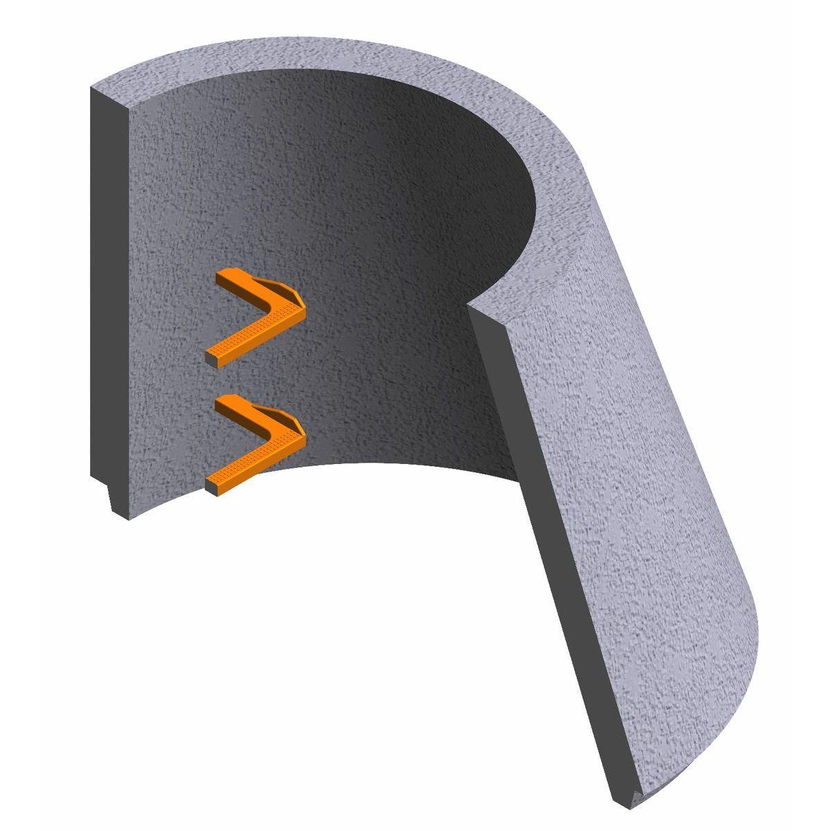 Cône asymétrique en béton pour puits P-8A 70x100x65