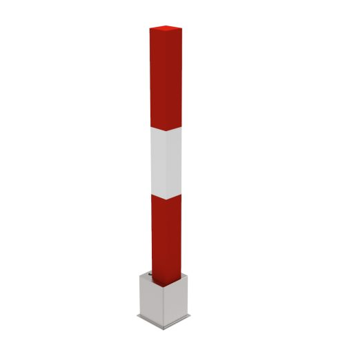 Removable Parking bollard with base and 998 mm of height - P-E