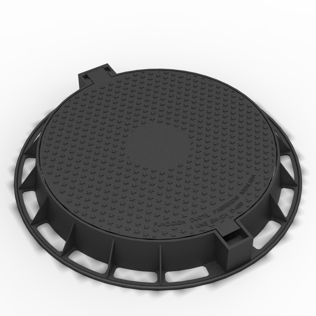 Circular articulated Manhole cover and frame R-1 D-400