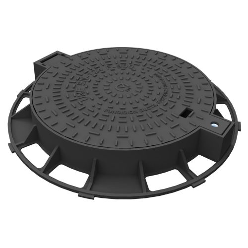 Hinge Manhole cover and frame of registry un ductile casting R-1-E600