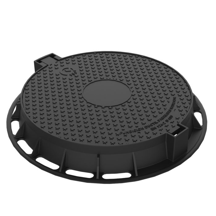 Manhole Cover and frame of registry of ductile casting R-100 circular
