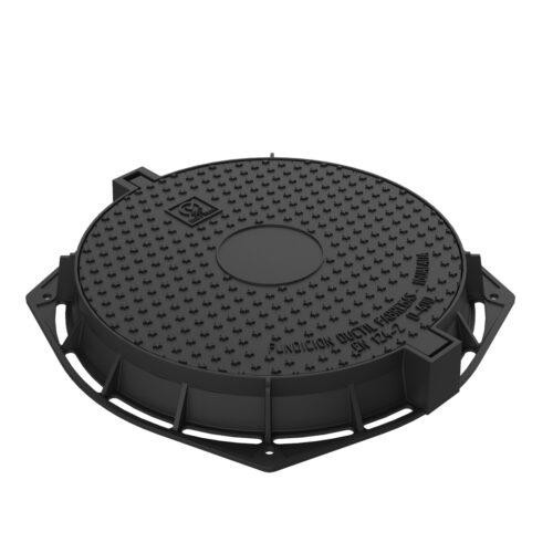 Tapa y marco octogonal de registro fundicion ductil R-100-SB
