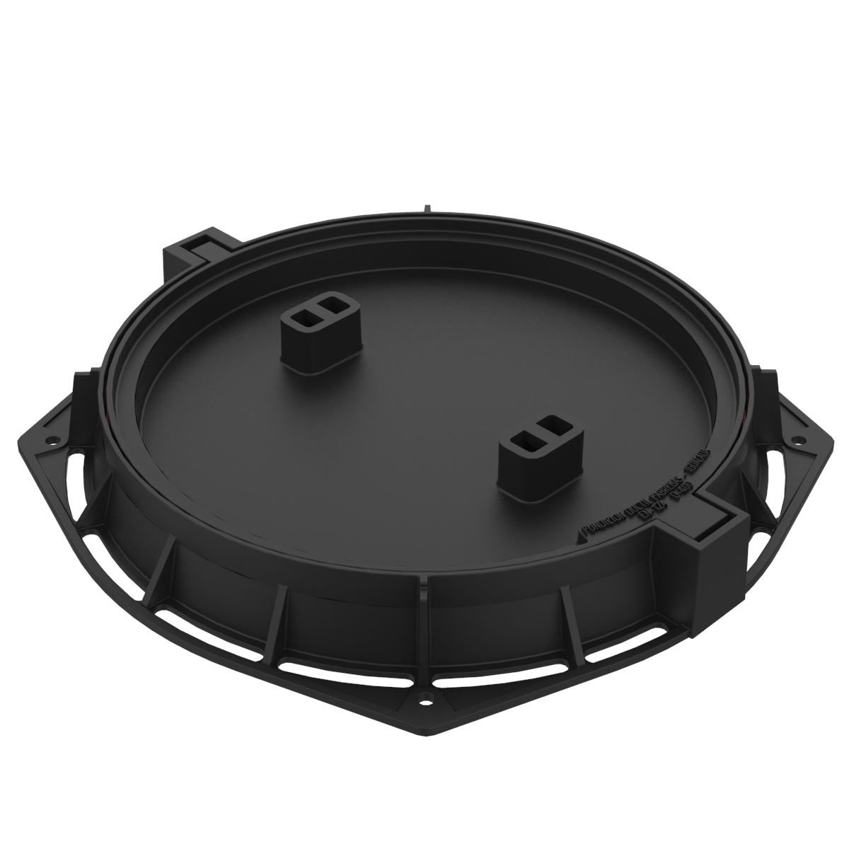 Circular folding Manhole Cover and frame refillable R-100-SB-HONDAS