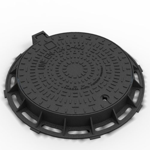 Circular Manhole cover and frame anti-theft ductile casting R-1C