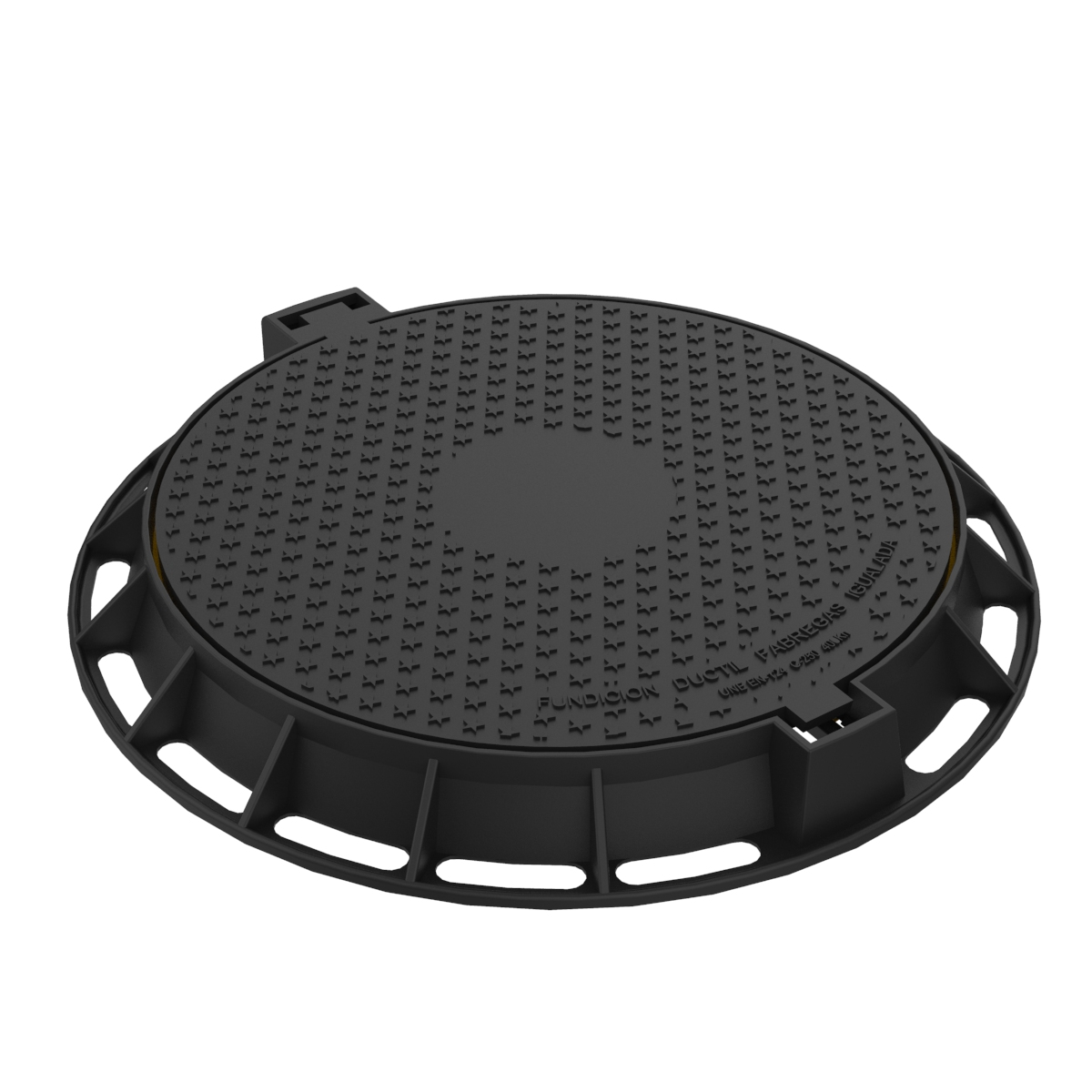 Circular folding Manhole Cover and frame of ductile casting R-1P-75