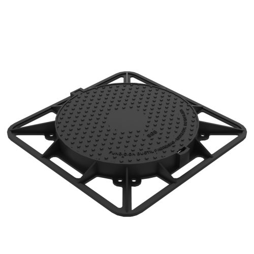 Round Manhole cover and square frame of registry R-2-MA-C250