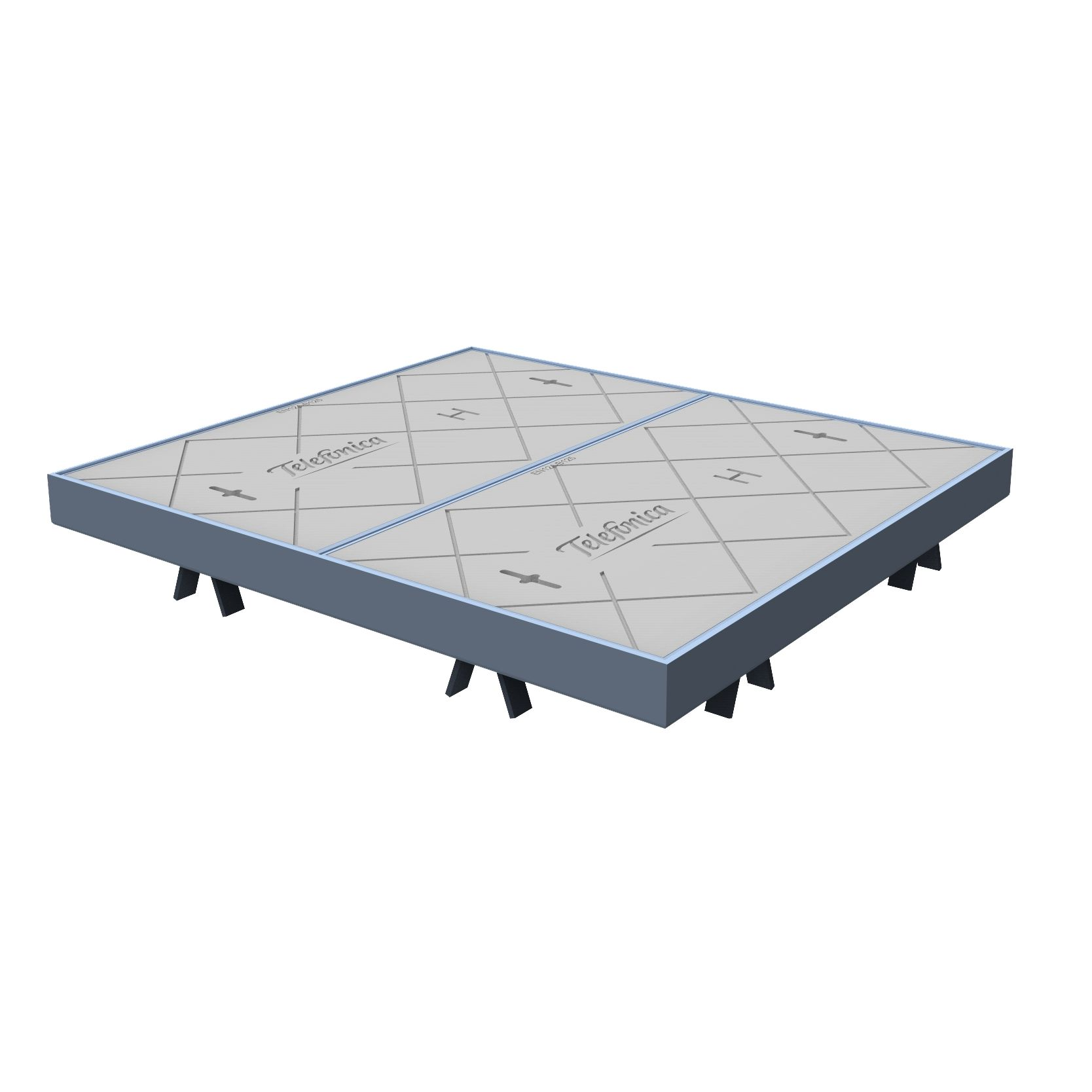 Telephonic Manhole Cover and frame of concrete H