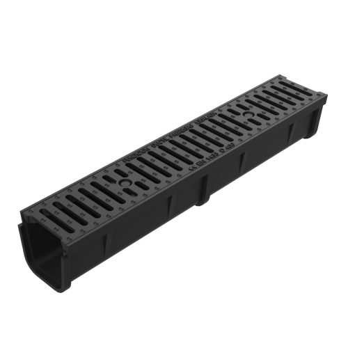 Grate and frame with channel of casting, for sections U-150-F-75