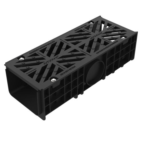 Grate and frame with channel of polypropylene for sections U-300-P