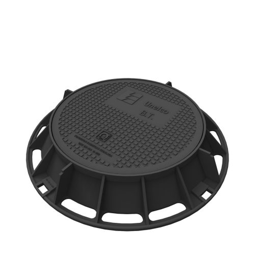 Unelco Manhole cover and frame in casting UA-2-AT