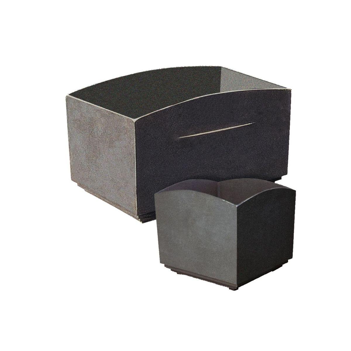 Rectangular flower box of casting Valladolid V-1