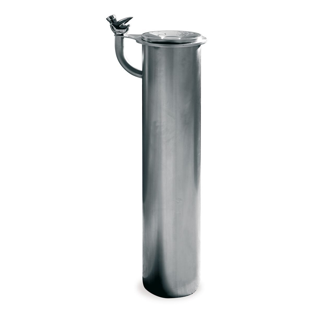 Stainless steel fountain, with timed tap. ESVA V-109