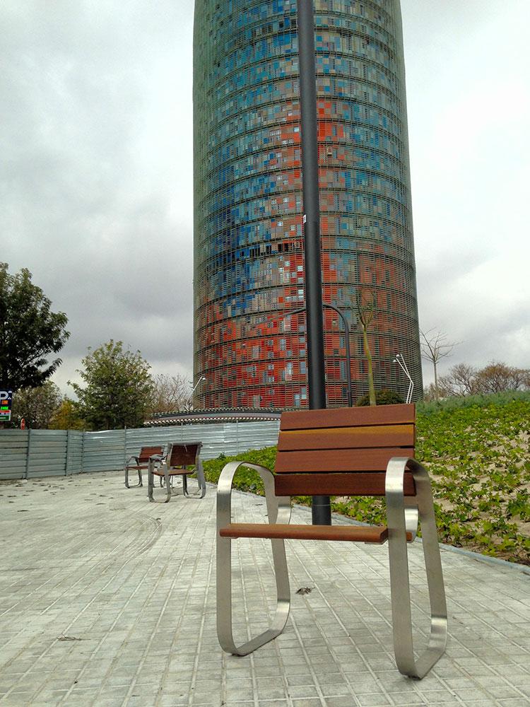 Banco de madera LLamic antigraffiti
