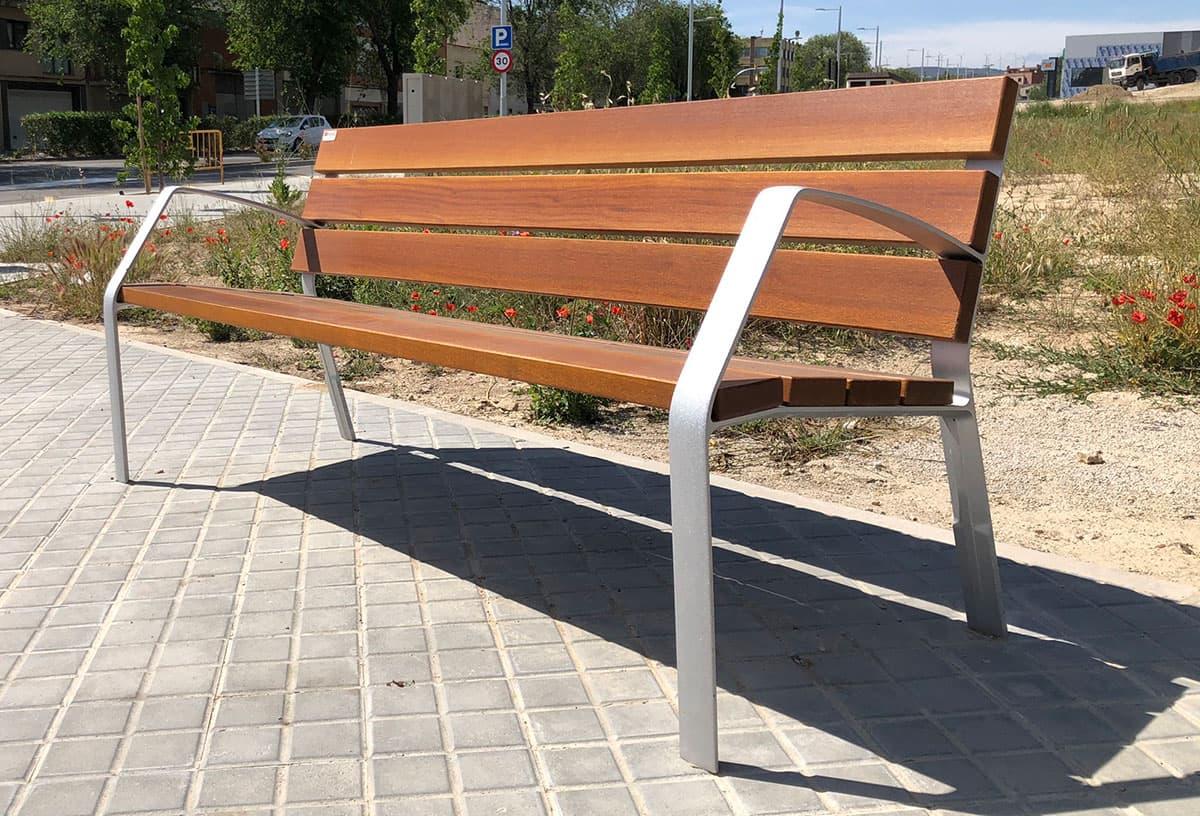 Banco de madera para parque