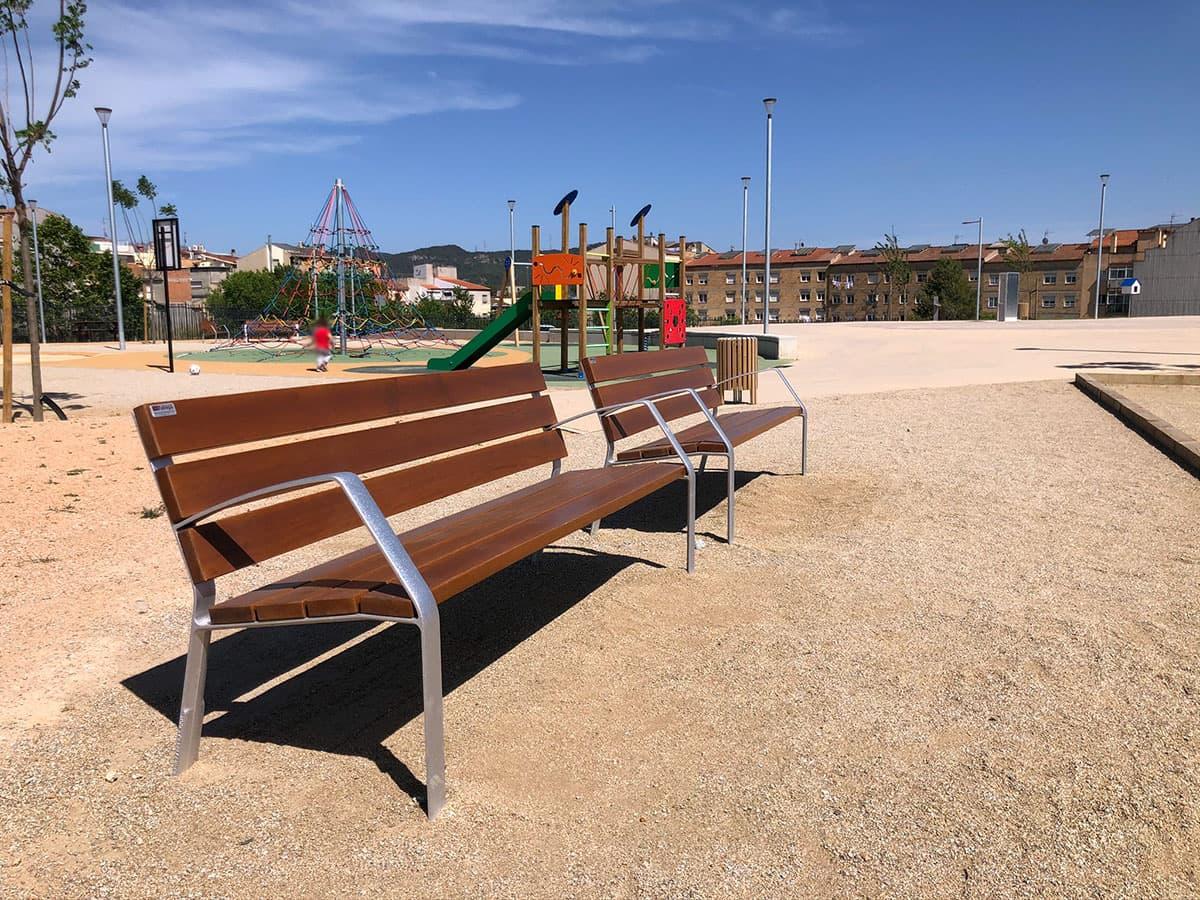 Bancos de madera para parques