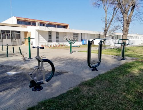Installation of outdoor gyms in a special education center of Huelva