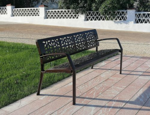 Installation of ductile iron benches in RAL-8017 color – 2021