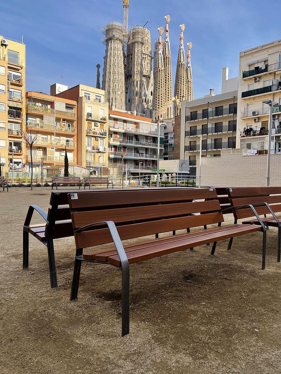 Jardín urbano Sagrada Familia
