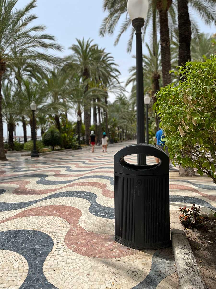 Polyethylene bins in Alicante - 2021