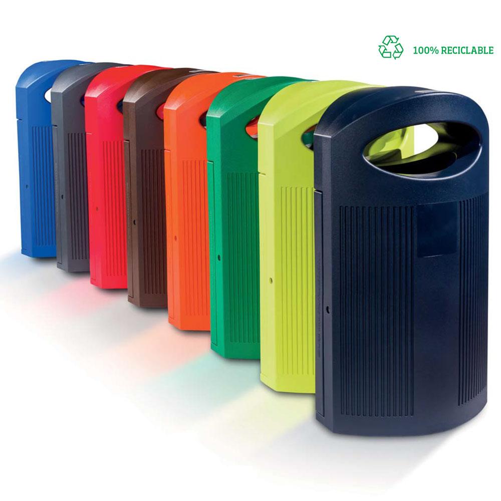 Papeleras de plástico para parques y jardines