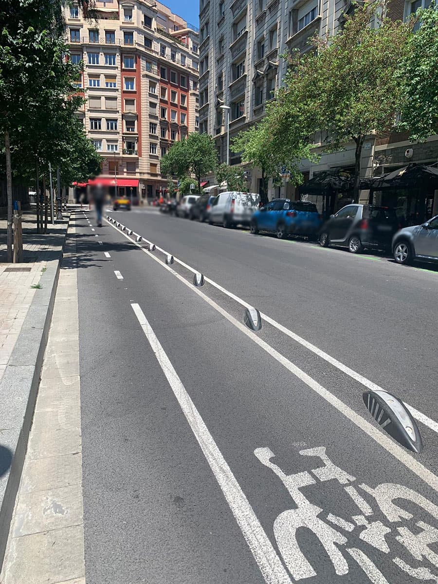 bike lane dividers and flexible TPU bollards