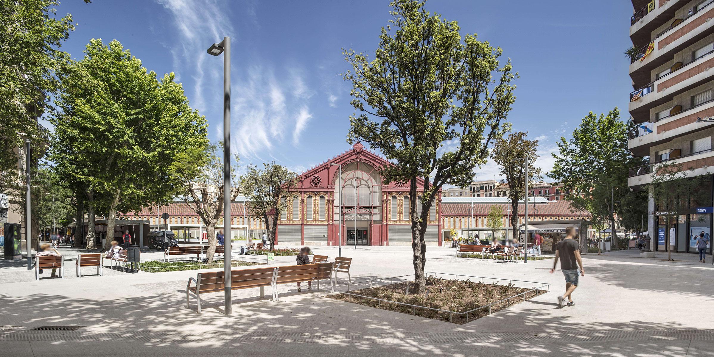 Mobiliario urbano Mercat de Sant Antoni