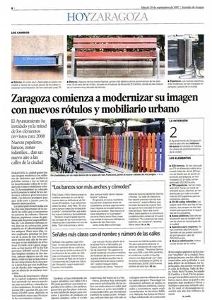 Mobiliario urbano para Zaragoza